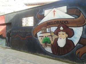 Mur peint sur le chemin