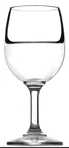 verre à moitié plein