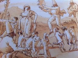 Nous sollicitons Giandomenico Tiepolo avec ses Polichinelles et leurs chiens dansant pour illustrer notre comportement collectif