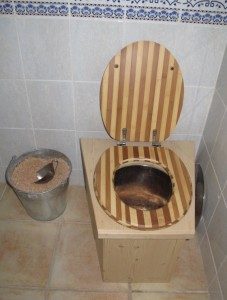 Toilettes sèches.Fig.1