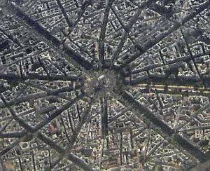La place d' Etoile à Paris (dr)